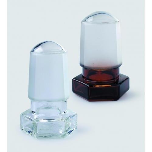Πώματα υάλινα εξαγωνικά (Hexagonal glass stoppers)